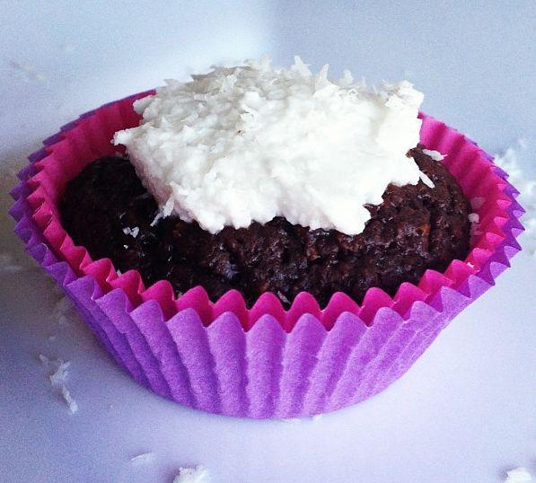 Chocolate Cupcake with coconut cream icing