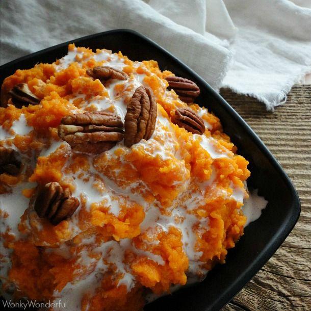 Mashed Sweet Potatoes - Traditional Thanksgiving Menu Ideas - wonkywonderful.com