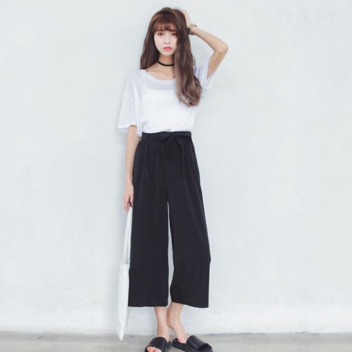 Cheap trouser jumpsuit, Buy Quality trousers pants directly from China pants floral Suppliers: High waisted wide leg pants womens Color: black Material: cotton an