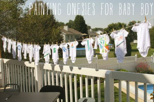 Painting Onesies for Baby Boy