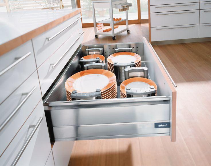 Blum drawers for innovative #kitchen storage