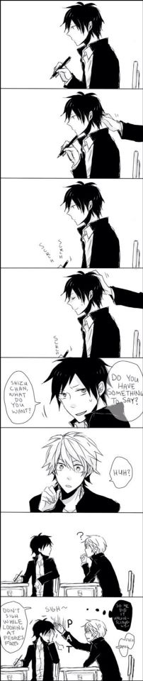 Awww, so cute! Shizu-chan. Just say it!