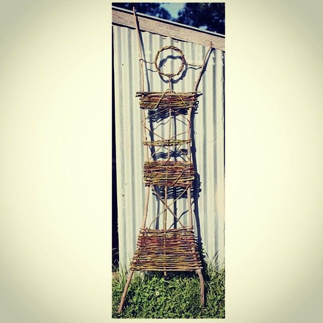 #willow lady #garden #sculpture #espalier #trellis #ruralartisanliving  #stickart