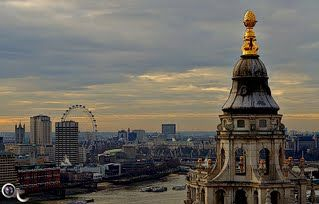 London Eye and St Paul