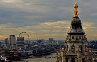 London Eye and St Paul