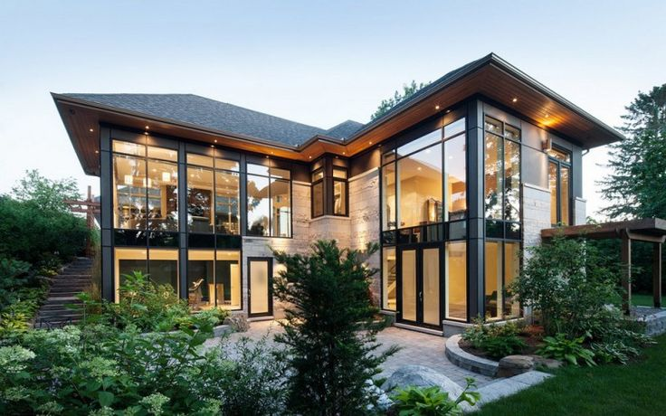 Terrifically Transparent: Modern home with an abundance of windows is impressive in both style and appearance