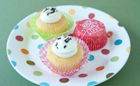 Cupcakes au Citron et à la Vanille avec Glaçage Éclair Crémeux