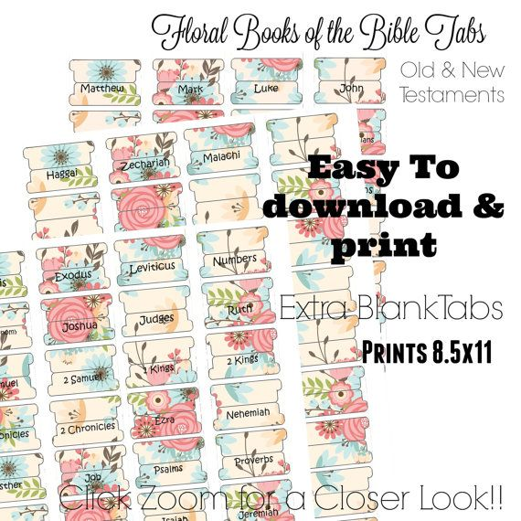 Check out this item in my Etsy shop https://www.etsy.com/listing/288579995/printable-bible-tabs-bible-tabs-bible