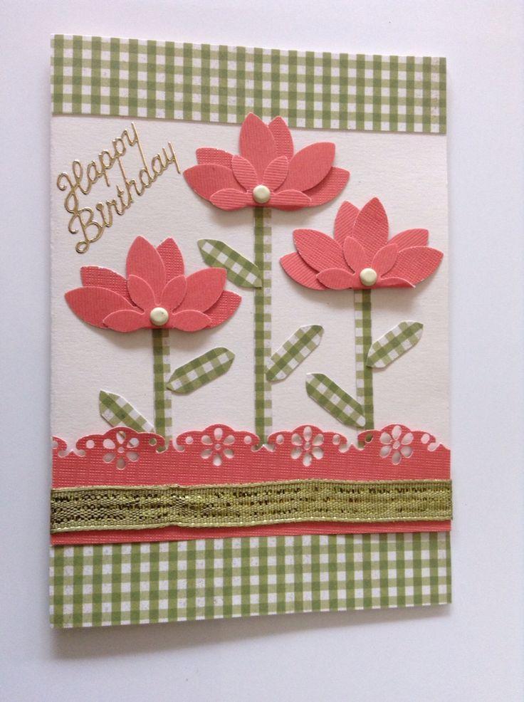 Love this flower card idea