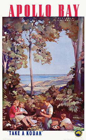 Apollo Bay, Victoria, Australia by James Northfield c.1930s http://www.vintagevenus.com.au/products/vintage_poster_print-tv607