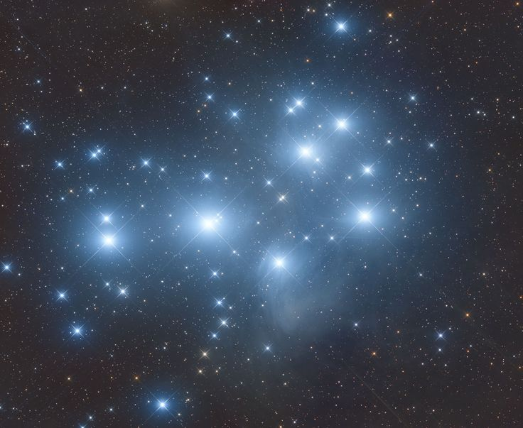 Twinkling Stars: Skywatcher Snaps Stunning View of Pleiades Star Cluster | Space.com 11/25/16 image of M45, or the Pleiades star cluster,  taken by Ron Brecher October 2016.