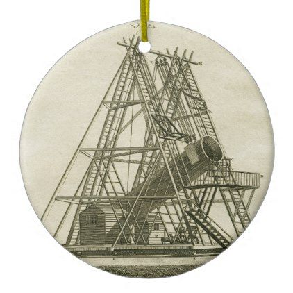 Telescope Antique SCIENCE EQUIPMENT 18TH CENTURY Ceramic Ornament  $15.95  by Photohistoryguy  - custom gift idea