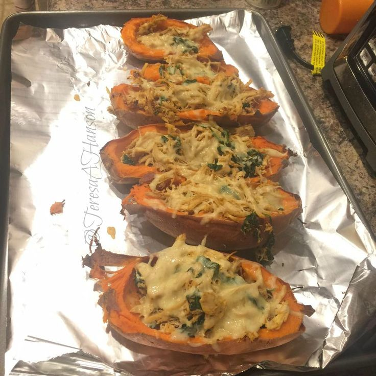 21 Day Fix Approved Chicken Baked Sweet Potatoes