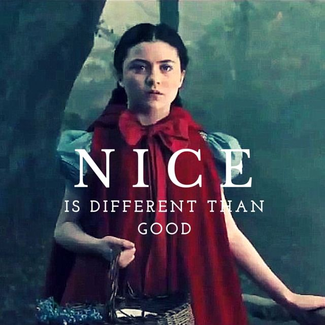 Movie Quotes - Disney #intothewoods good life lesson, Nice Is Different Than Good