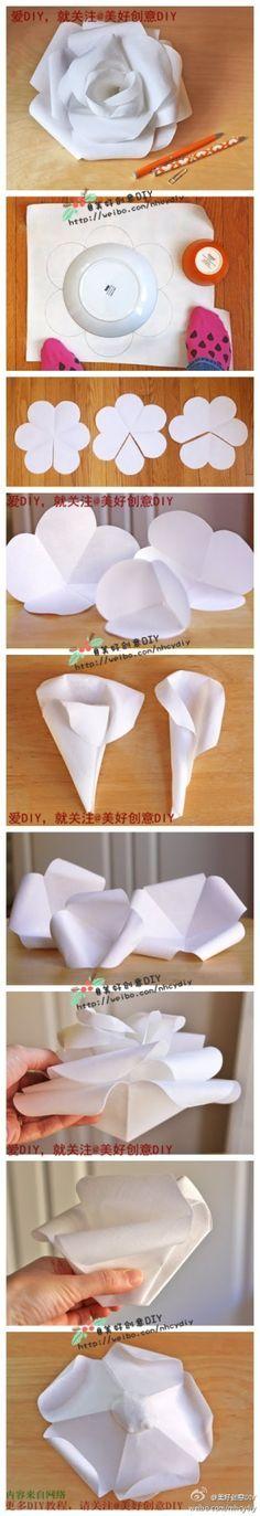 DIY - Huge paper flower - awesome