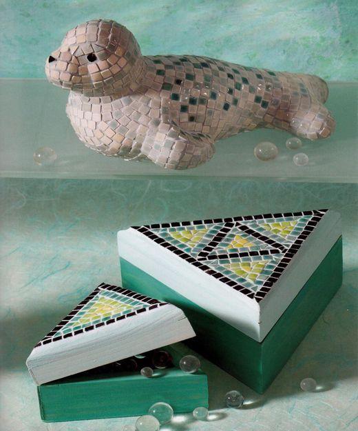 Mozaicuri - Foca si cutii decor