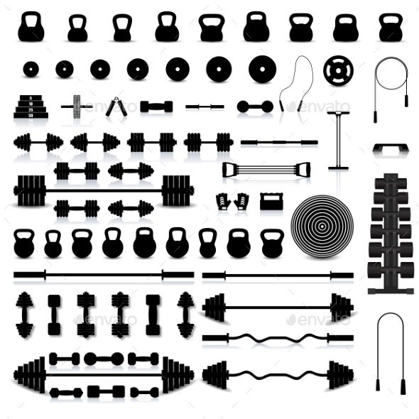 Set of Sports Equipment Vector Template - Sports/Activity Conceptual Vector Template Design. Download here: https://graphicriver.net/item/set-of-sports-equipment/19542114?ref=yinkira