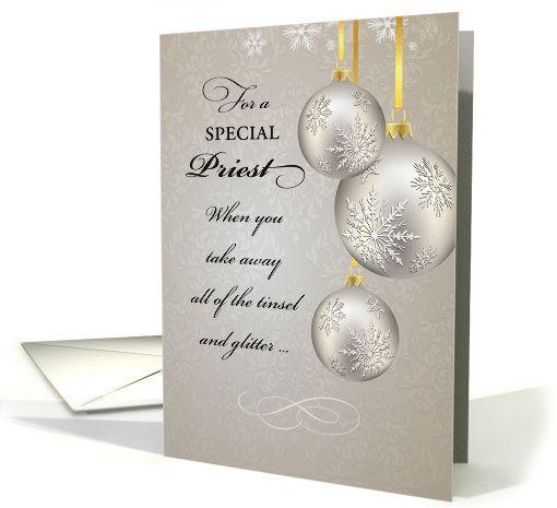 catholic priest christmas  elegant card