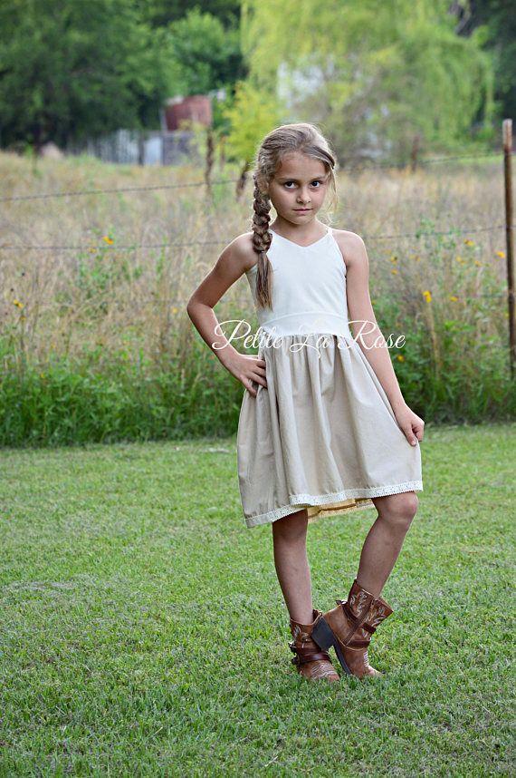 38b0f63e8e2 Lace Boho Girls Crocheted Lace Dress Flower Girl Rustic Country Wedding  Shabby Chic Bohemian Western Size 6 Ready to Ship NO CUSTOM SIZES