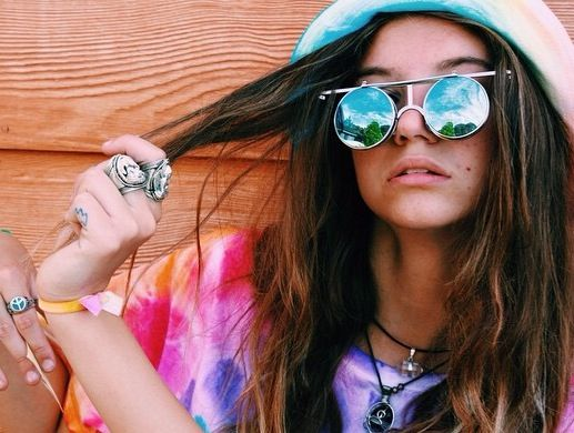 ॐ The stunning @tiahenricks wearing our Buddha & Ganesh Rings ॐ Check out our website for more at www.ohmboho.com ☮