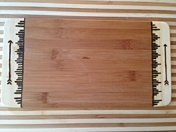 Bamboo Cutting Board  Tribal Patten  by SCBoutique123 on Etsy