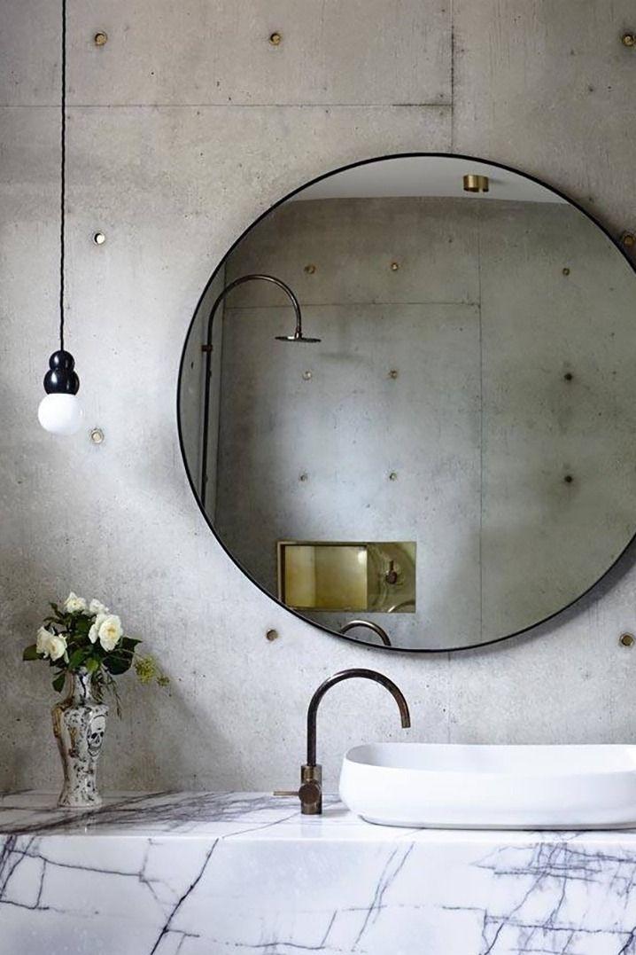 Best 25 Round bathroom mirror ideas on Pinterest  Circle light mirror Bathroom inspiration