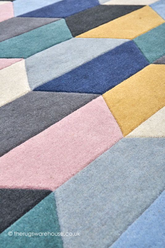Funk Honeycomb Pastel Rug (texture Close Up), A Geometric Patterned  Handmade Modern Rug