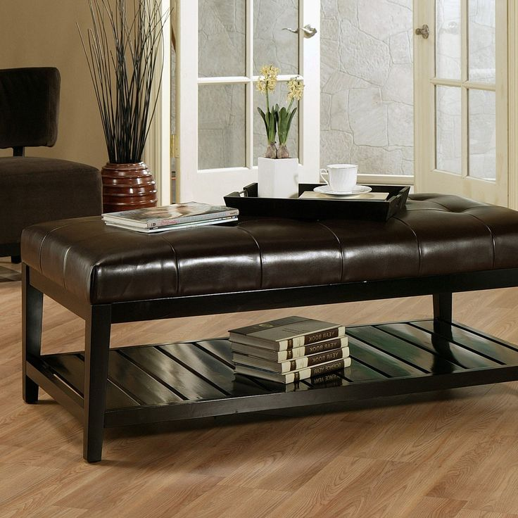Winslow Bicast Tufted Leather Coffee Table Ottoman $498.75 - 83 Best Images About Ottomans And Coffee Tables On Pinterest