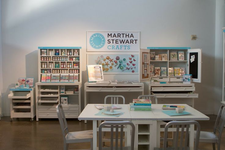 martha stewart crafts are displayed here on some of the