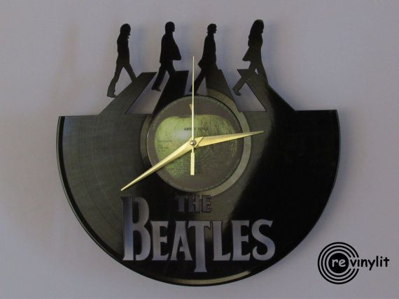 Die Beatles-Uhr, Wanduhr, John Lennon, The Beatles, Abbey Road, Beatles-Kunst…