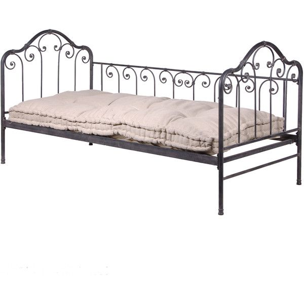 Cushioned Iron Day Bed found on Polyvore