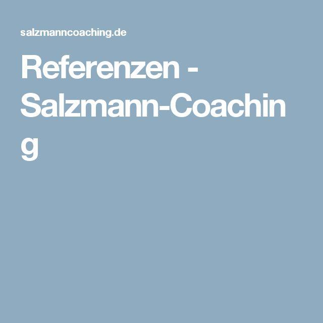 Referenzen - Salzmann-Coaching