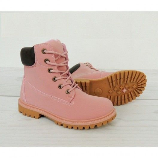 Ružové dámske členkové workery zimné - fashionday.eu