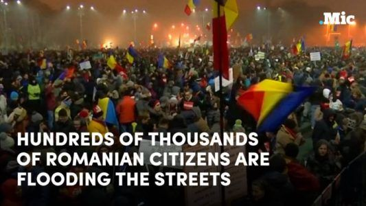 The Romanian government issued a decree that basically legalizes corruption  and hundreds #news #alternativenews