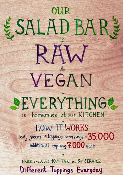 Alchemy Ubud Bali - How the Salads Work
