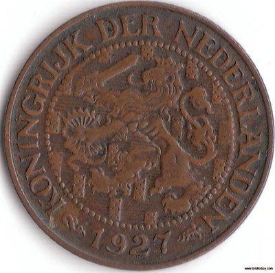 A Very Fine 1927 Netherlands One Cent Coin, Nice Coin