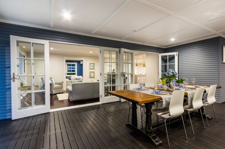 Hamptons style deck. Staged, styled and sold by www.capecodresidential.com.au Image courtesy www.realestatepics.com.au