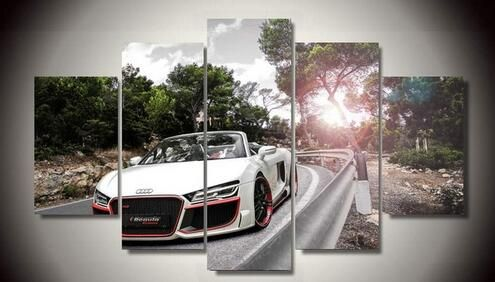 5 Pieces/set Printed Car audi spyder picture painting wall art children's room decor poster canvas print painting //Price: $28.08 & FREE Shipping //     #hashtag2