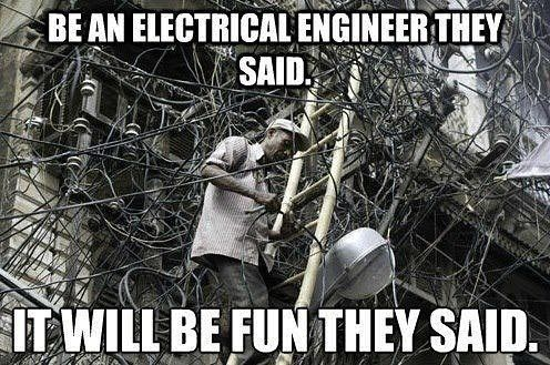 Sometimes I wonder  #electric #electrical #engineering #life #itwillbefuntheysaid #cables #wires #electrician #construction #work #funny #memes #memedaily #workhardplayhard #hilarious #graft #electricity #norestforthewicked