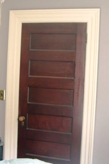 165 best rooms with wood stained trim images on pinterest for Wood doors painted trim
