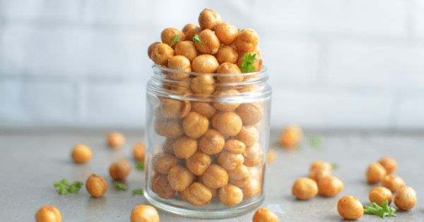 Air Fried Spicy Roasted Chickpeas   – Roasted Garbanzo Bean Recipes and Ideas – A Healthy Way to Snack