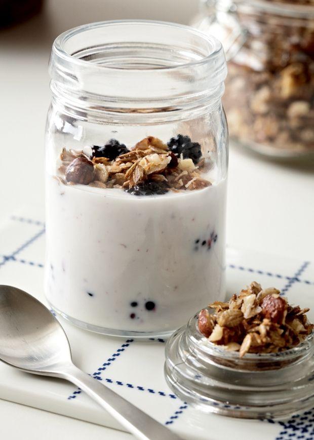 Opskrift på sund morgenmad i form af overnight oats