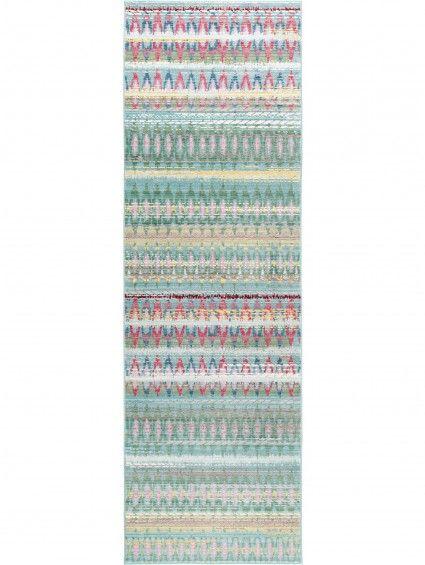 Teppich Läufer Visconti Grün 70x240 cm