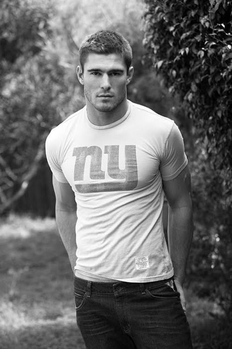 .He is hott and wearing a new york giants shirt...please sign me up