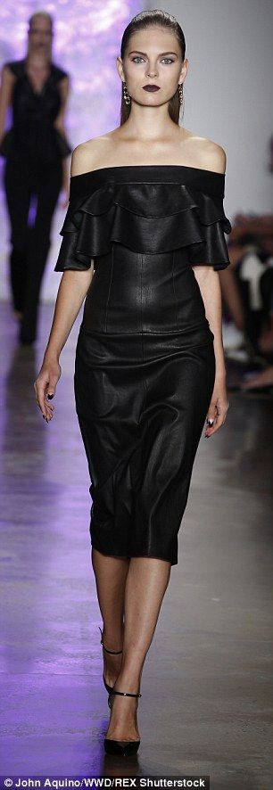 Cushnie Et Ochs pairs pastels and cut-outs at New York Fashion Week #dailymail
