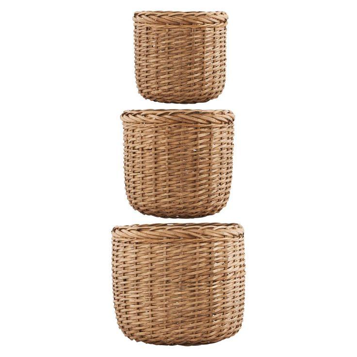 Baskets kurver large 3-set, natur i gruppen Inredningsdetaljer / Oppbevaring / Kurver hos ROOM21.no (1028148)