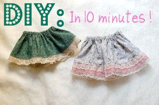 DIY baby skirt baby
