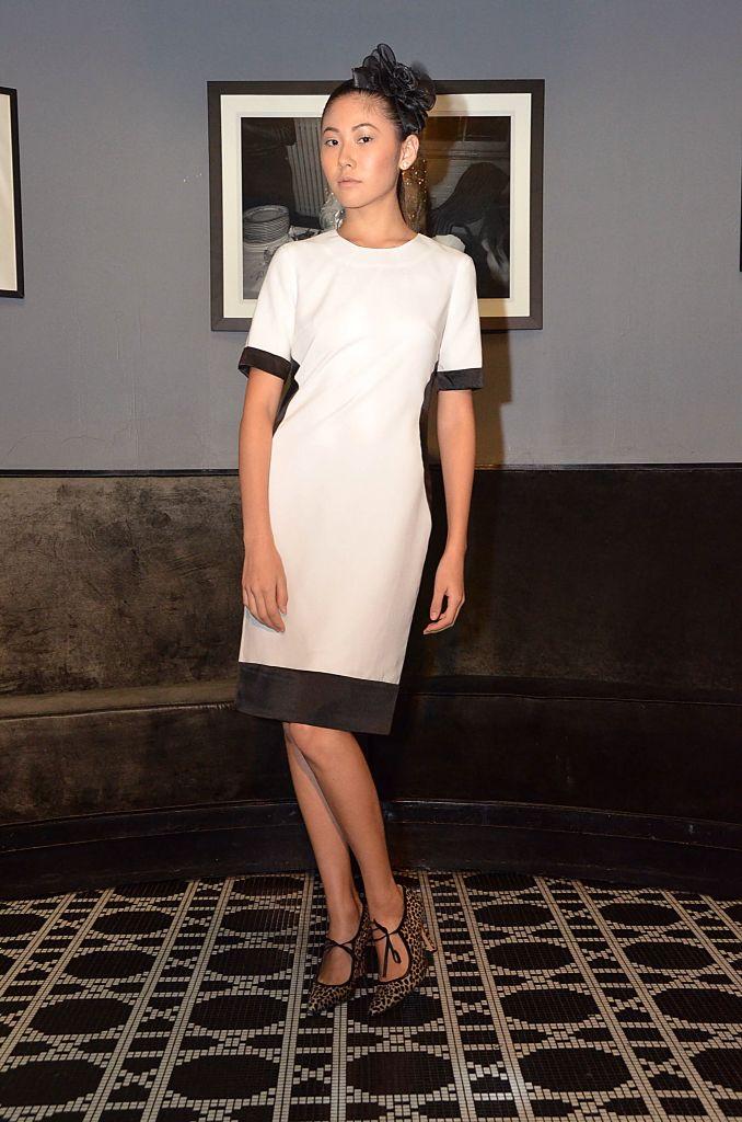 Model wearing dress Sonja wore on the cover of Social Life magazine September 2015