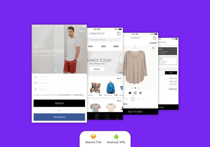 AnriKit E-Commerce Free UI Kit