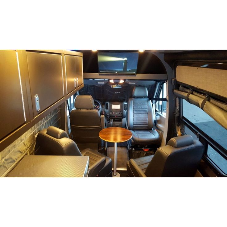 Look At TV Location Also Shelf Above Driver Sprinter Van ConversionMercedes